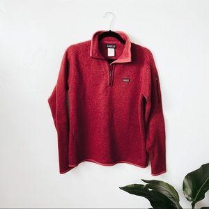 Patagonia Red Long Sleeve Half Zip Better Sweater